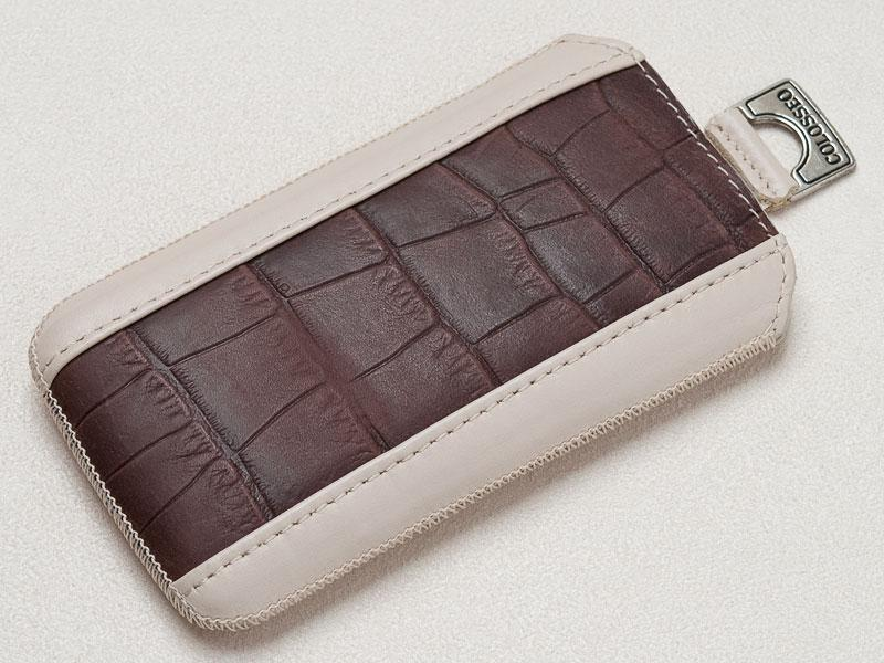 Футляр iPhone 5 BEIGE-CROCO-BROWN-L